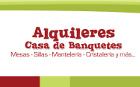 Alquileres Casa de Banquetes - Alquiler de mobiliario