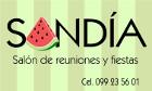 Sandía - Reuniones y Fiestas - Salones de fiestas
