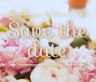 Save the date - Decoración para fiestas